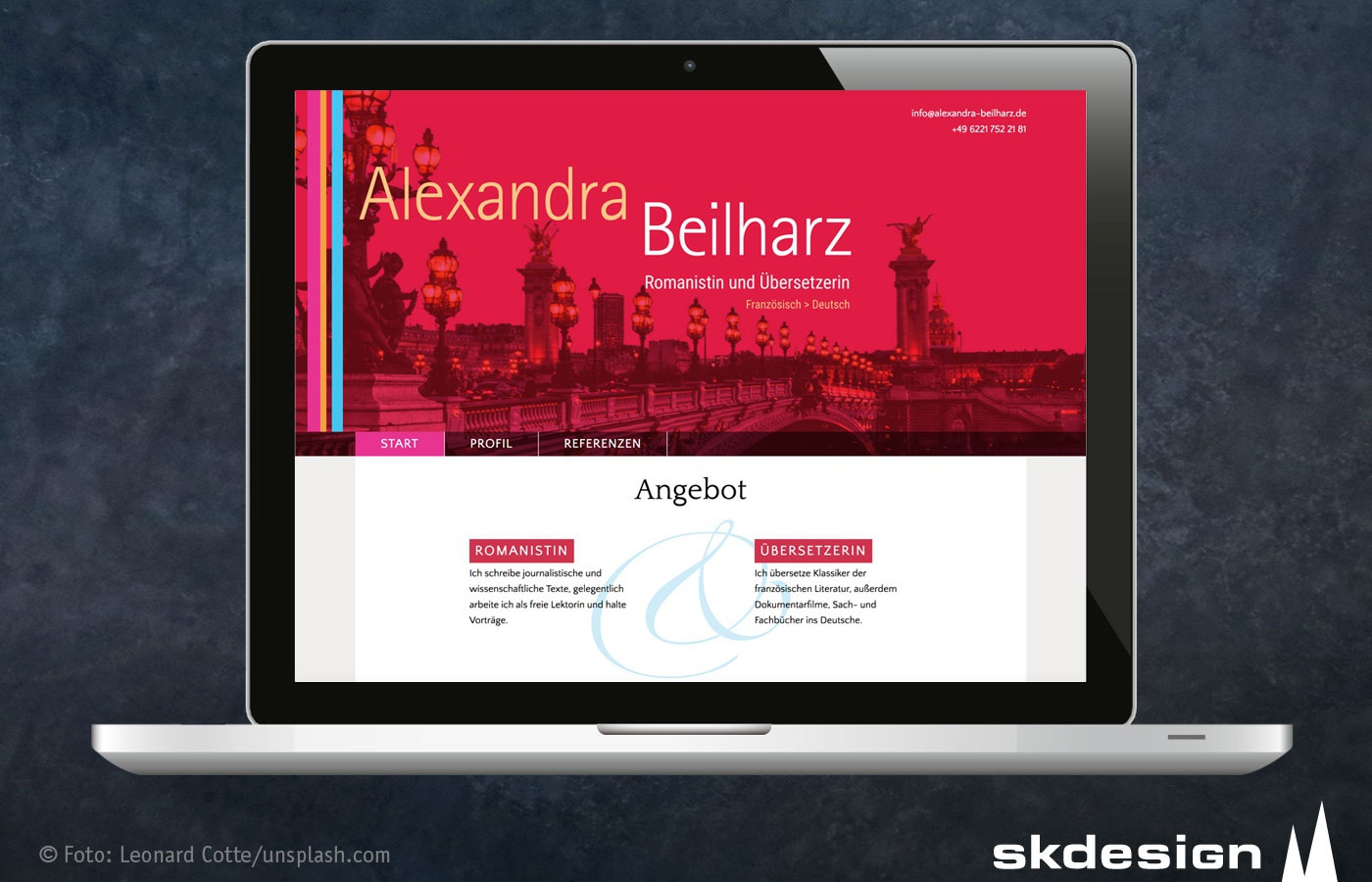 Redesign Website Alexandra Beilharz